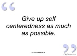 Give up self 