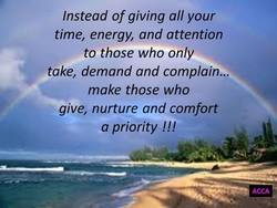 Instead of giving all your 