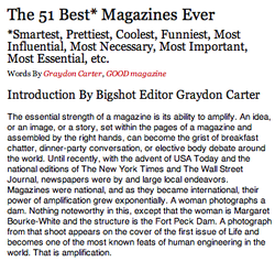The 51 Best* Magazines Ever 