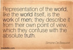 Representation of the world, 