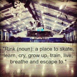 Rink (noun): a place to skate;