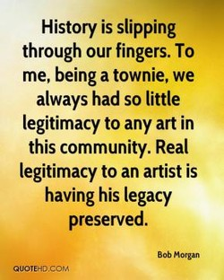 History is slipping 