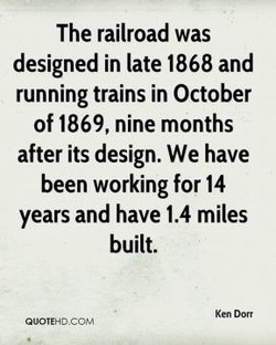 The railroad was 