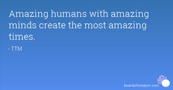 Amazing humans with amazing 