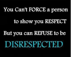 You Can't FORCE a person 