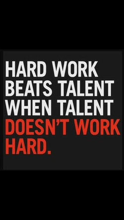 HARD WORK 