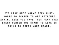 ITS LIKE ONCE YOUVE BEEN HURT, 