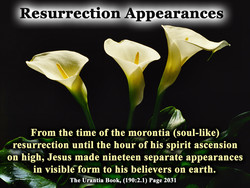 Resurrection Appearances 