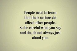 People need to learn 