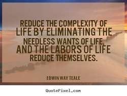 REDUCE THE COMPLEXITY OF 