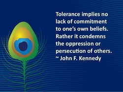 Tolerance implies no 