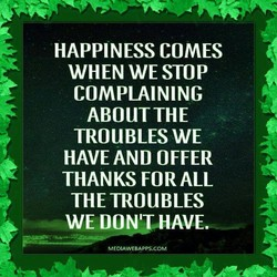 HAPPINESS COMES 