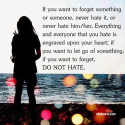 If you want to forget something 