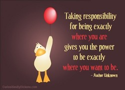 Taking responsibility 