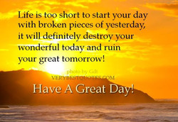 Life is too short to start your day 