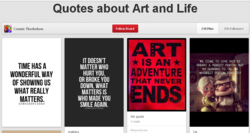 Quotes about Art and Life 218 Pins 256 Followers Connie Thorkelson TIME HAS A WONDERFUL WAY OF SHOWING US WHAT REALLY MATTERS. IT DOESN'T MATTER WHO HURT YOU, OR BROKE YOU DOWN, WHAT MATTERS IS WHO MADE YOU SMILE AGAIN. Follow Boa. d IS AN DVENTUR AT NEVE ND Art quote Pinned from wc conc TO LOVE FINDING A PCRFCCT PCRSON. BUT I'ARNING TO IMPCAPCCT
