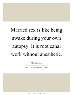 Married sex is like being 