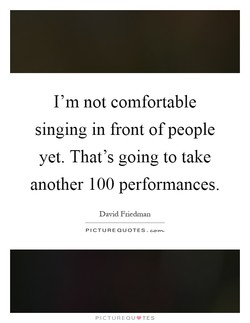 I'm not comfortable 