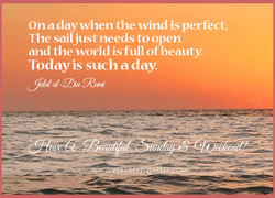 On a day when the wind is perfect, 