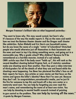 Morgan Freeman's brilliant take on what happened yesterday :