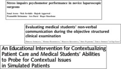 Stress impairs psychomotor performance in novice laparoscopic 