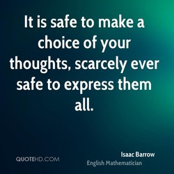 It is safe to make a 