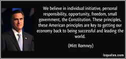 We believe in individual initiative, personal 