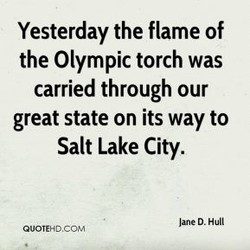 Yesterday the flame of 