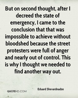 But on second thought, after I 