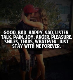 GOOD, BAD, HAPPY, SAD, LISTEN, 