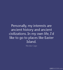 Personally, my interests are 