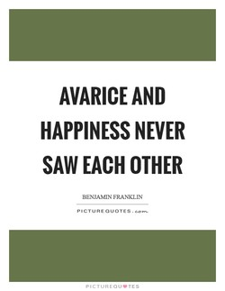 AVARICE AND 