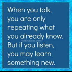 When you talk, 