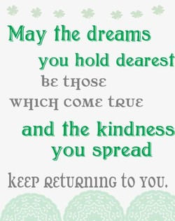 May the dreams 