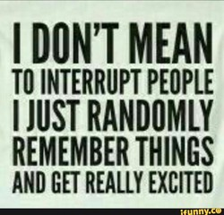 I DON'T MEAN 
