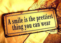 A smile is the prettiest 