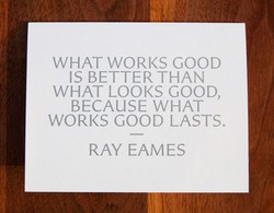 WHAT WORKS GOOD 