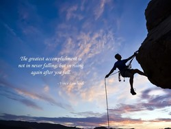 The greatest accomplishment is 