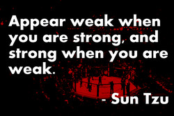 Appear weak when 