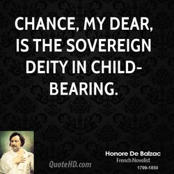 CHANCE, my DEAR, 