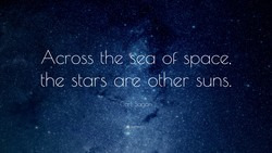 Across the sea og space, 