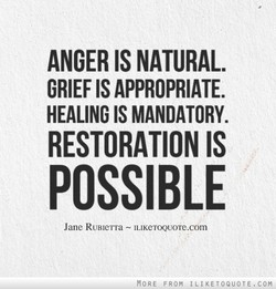 ANGER IS NATURAL. 