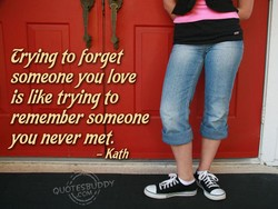Crying to forget 