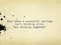 What • makes a• successful marriage 