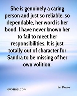 She is genuinely a caring 