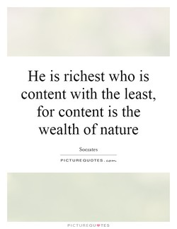 He is richest who is 