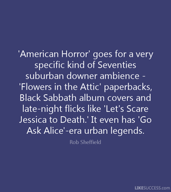 'American Horror' goes for a very 