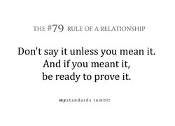 THE #79 RULE OF A RELATIONSHIP 