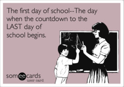 The first day of school--The day 