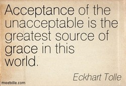 Acceptance of the 